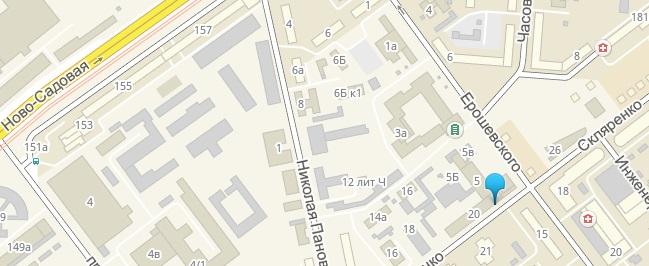 Расположение здания министерства имущественных отношенийСамарской области на карте города Самара