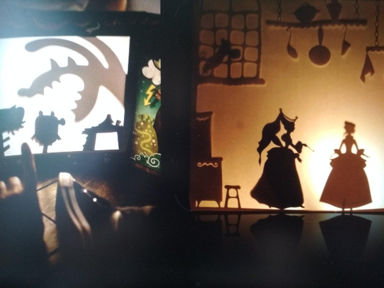Театр теней из картона и фонарика